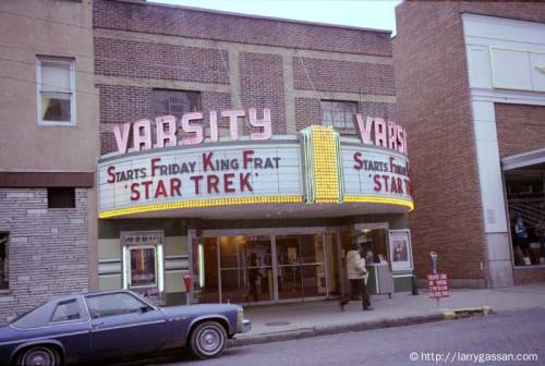 Varsity Theater, Athens OH, December 1979.